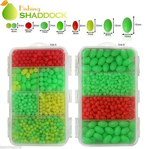1000pcs//box Fishing Beads Oval//Round Plastic Beads Fishing Lure Tackle Eggs