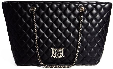 84e0c84853 Love Moschino Large Quilted Tote Handbag Black | Handbags bags ...