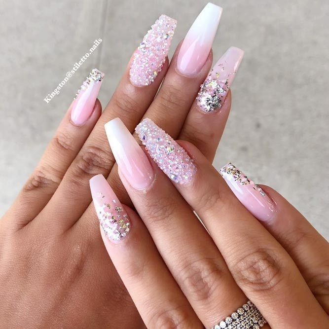 30 Coffin Nail Designs Youll Want To Wear Right Now  Nägel #crystalnails
