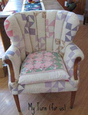 My Turn For Us Patchwork Quilt Chair Upholstered Chairs Diy Patchwork Chair Patchwork Furniture