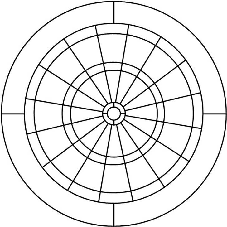 Dartboard pattern from Darryl's Stained Glass Patterns
