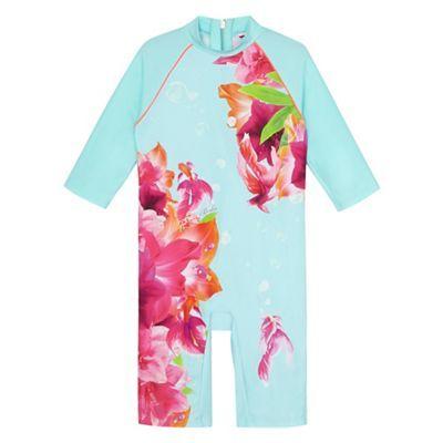 9380405e57 Baker by Ted Baker Girls' light blue underwater floral print sun safe |  Debenhams