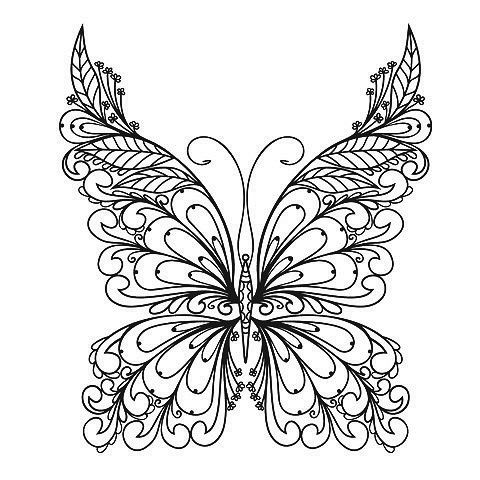 Butterfly:An Intricate yet clean design perfect for the ankle or ...
