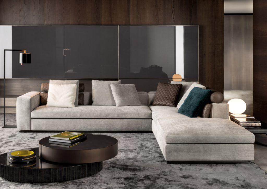 Il divano leonard di minotti si presenta con un design for Divano minotti