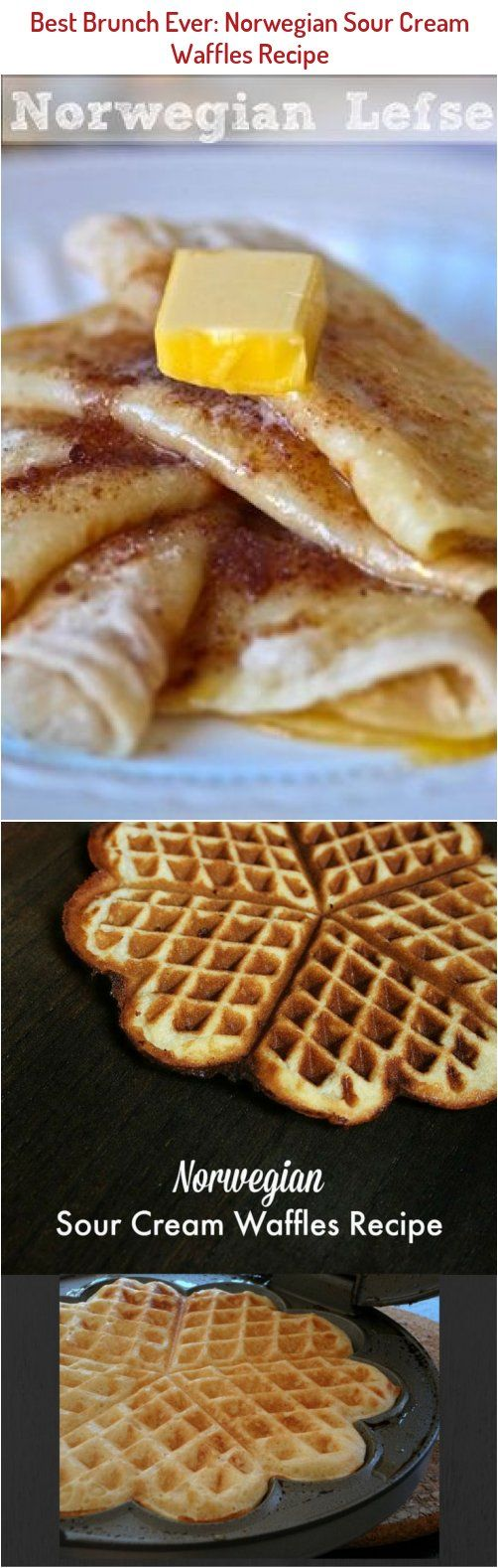 Sour Cream Waffles In 2020 Ebelskiver Recipe Waffle Recipes Waffles