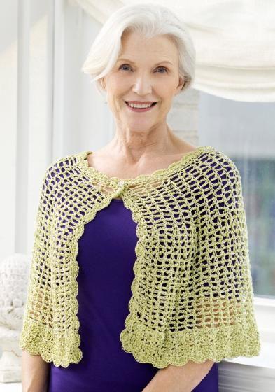 Lacy Crochet Capelet – Free Crochet Pattern~ so pretty | Crochet ...