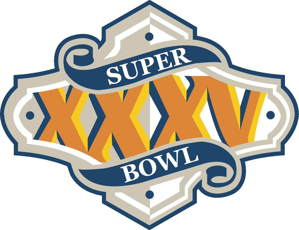 Super Bow XXXV Superbowl logo, Super bowl, Super bowl nfl