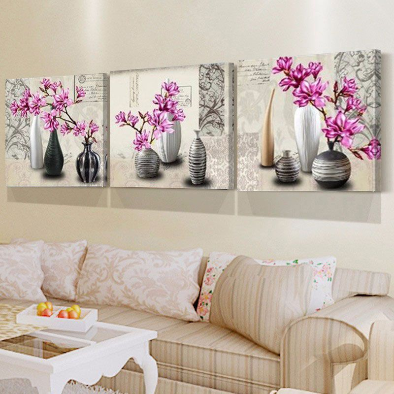 Wall Art Canvas Painting Flower Wall Pictures For Living Room Home Decor Wall Painting Decorative Pic Wall Art Canvas Painting Rooms Home Decor Home Wall Decor