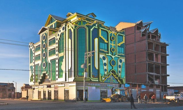 These Brilliantly Colored Bolivian Buildings Look Like Alien Spaceships Architecture Unusual Buildings Building