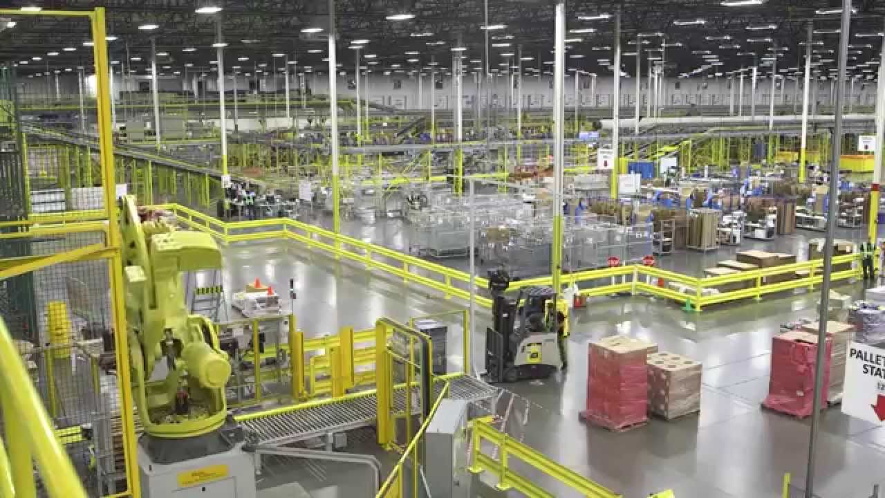Amazon Warehouse Robots Fulfillment Center Worlds Of Fun
