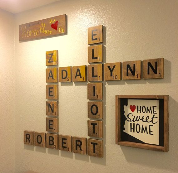 Family Letter wall art! Oversized letters to display family names ...