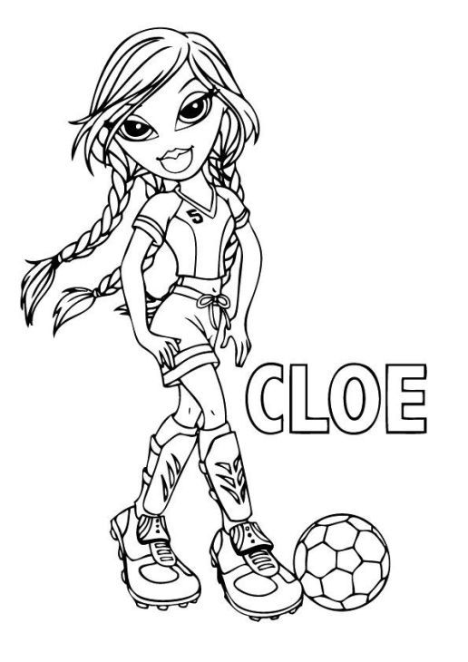 bratz coloring pages cloe free to print for girls coloring pages