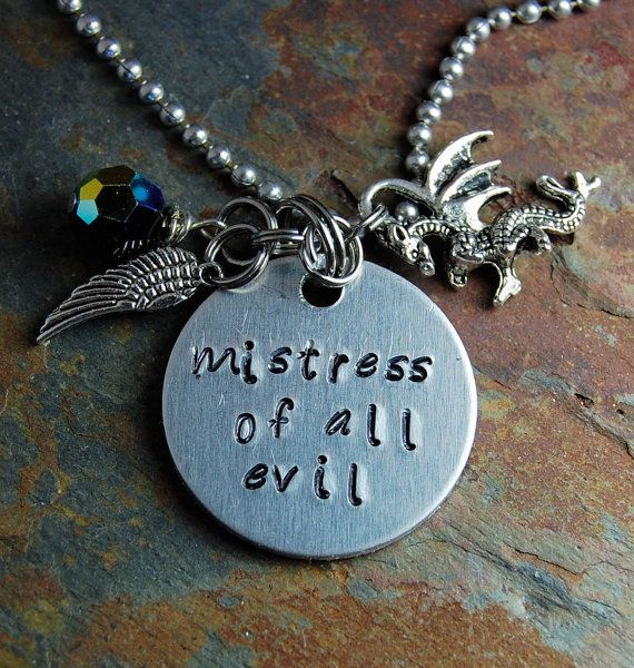 Quick Ship Disney S Maleficent Necklace Silver Chain