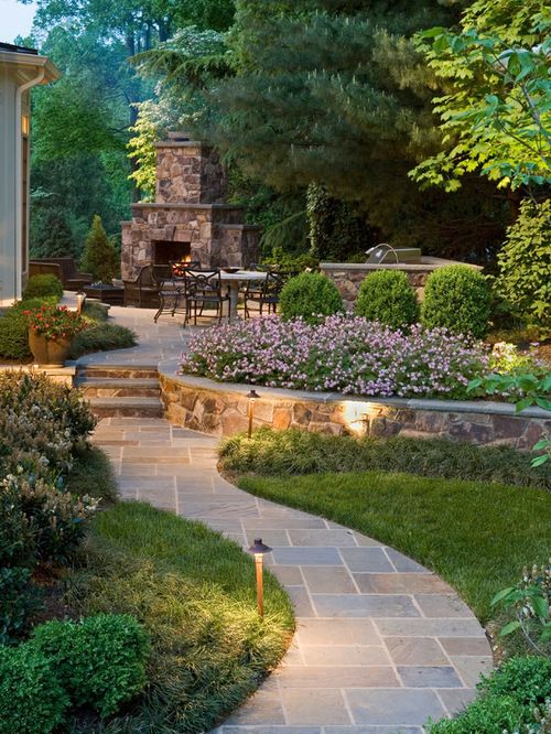 Home Landscaping Designs Remodelling Landscape Ideas Designs Remodels Amp Photos Backyard Landscape .