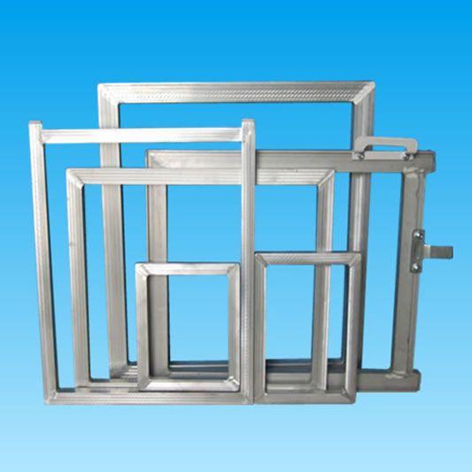 Aluminum Screen Printing Frames  http://www.screenprinterframe.com/Aluminum-Screen-Printing-Frames-1237.html