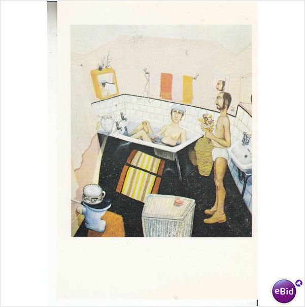 Colour Postcard - Our Bathroom by Anthony Green Listing in the Art,Postcards,Collectables Category on eBid From justpurrfect