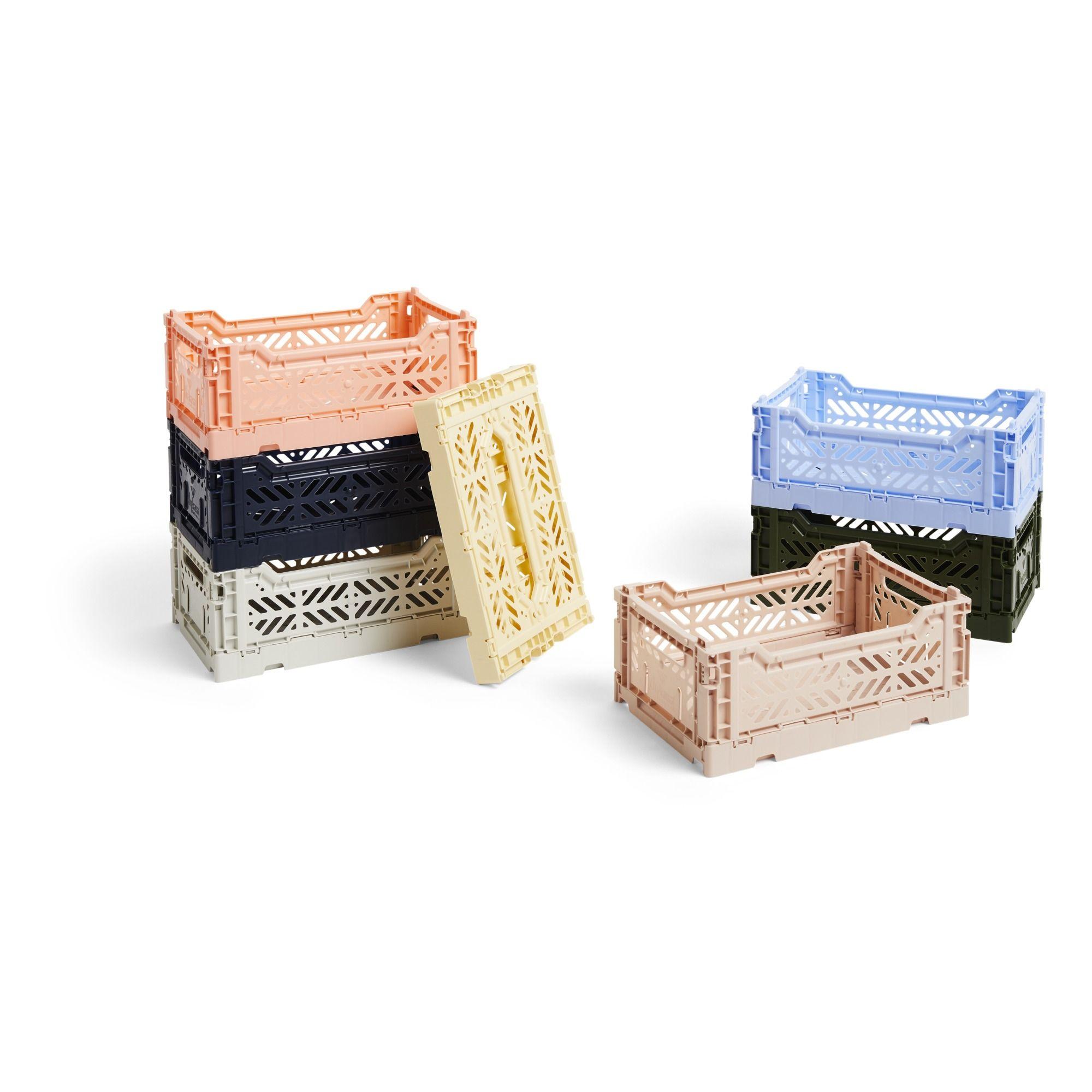 Foldable Crate Light Grey Hay Design Adult En 2020 Cagette Plastique Caisse Plastique Cagette