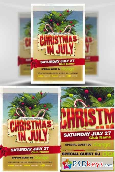 Christmas In July Flyer Template V22 (With Images) Christmas In