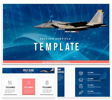 Airplane With Missiles Powerpoint Template Presentation Powerpoint
