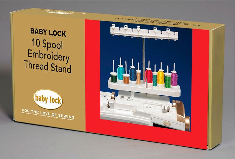 Baby Lock Embroidery And Sewing Machine With Quilter Thread Holder