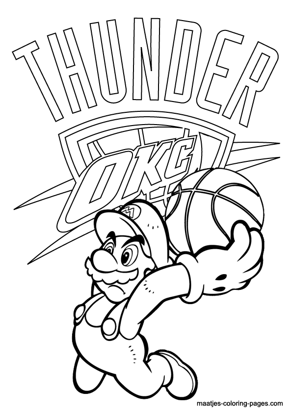 More NBA coloring pages on: maatjes-coloring-pages.com | NBA ...