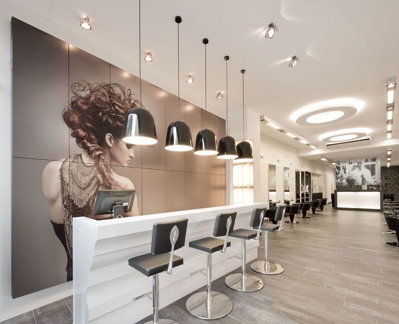 Salons on pinterest hair salons salon furniture and salons for Kappersinterieur