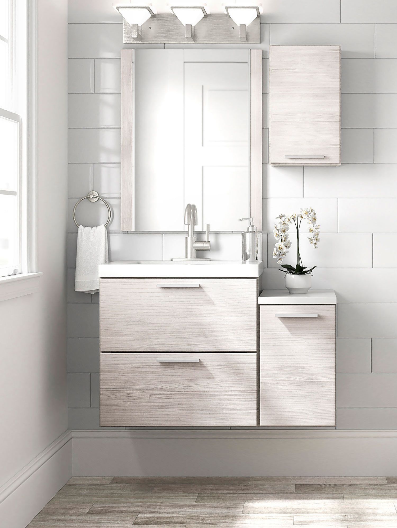 style selections acadia 24 5 in white single sink bathroom on lowes vanity id=78575