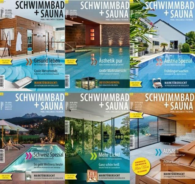 Schwimmbad + Sauna - 2016 Full Year Issues Collection