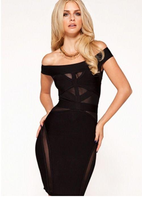 Black Jade bandage dress