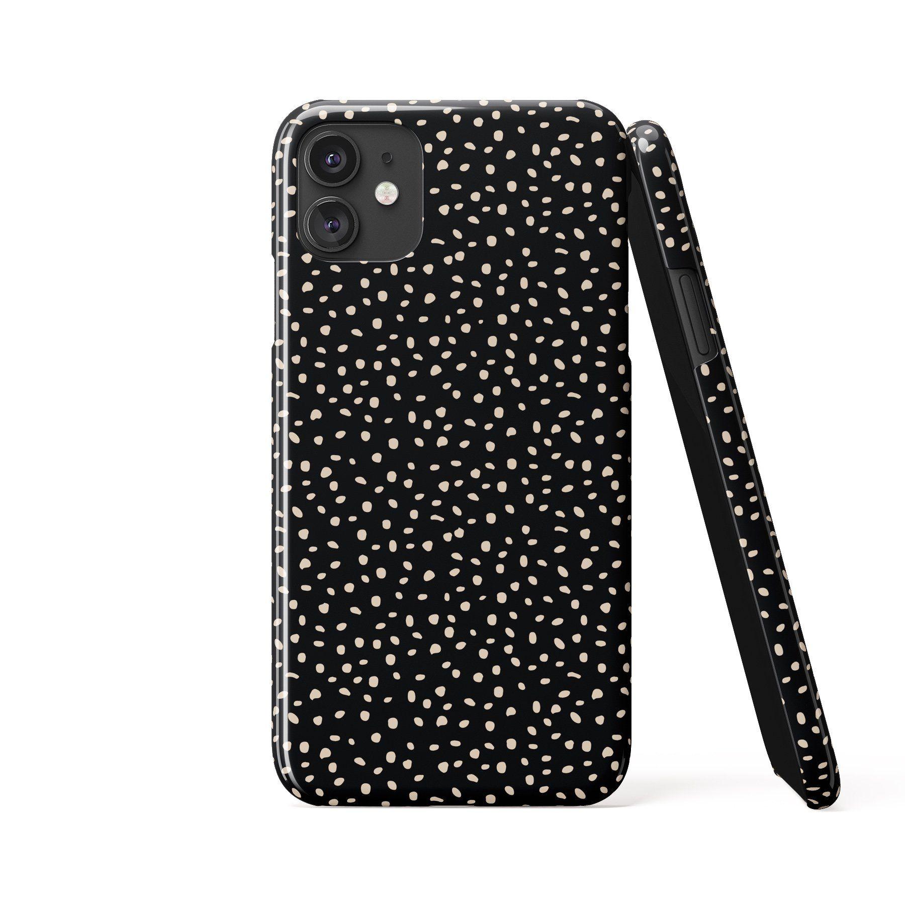 ALINA POLKA DOTS Black Phone Case - Samsung S20 Plus / Tough Case - Gloss