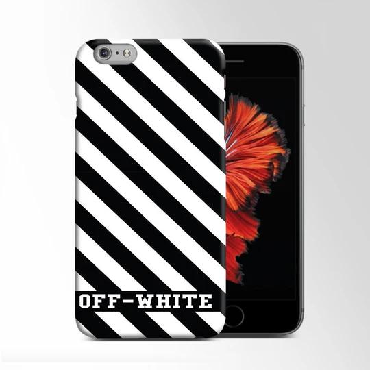 White Black Stripe Off White Iphone 6 Plus 6s Plus Case Moccase