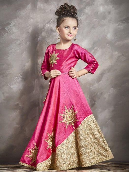 d777a43da0f Pink Cream Party Wear Gown