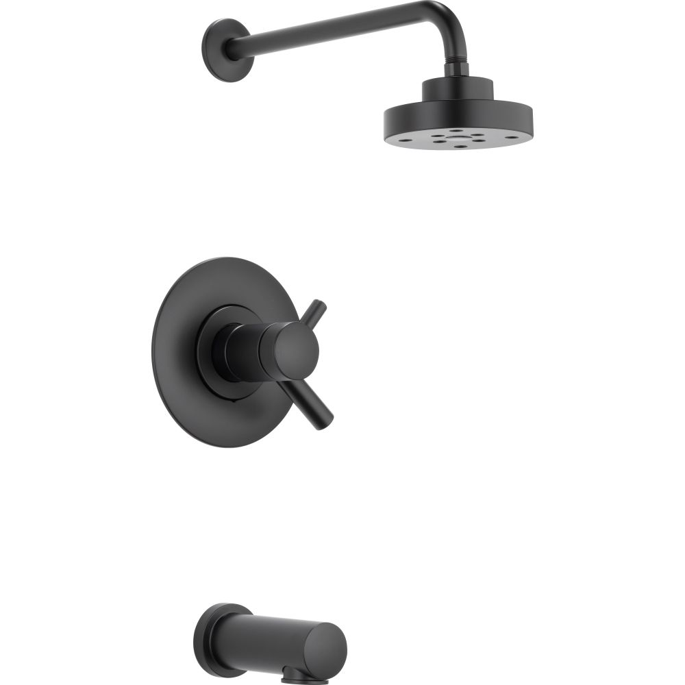 brizo t60475 bl jason wu matte black two handle tub u0026 shower