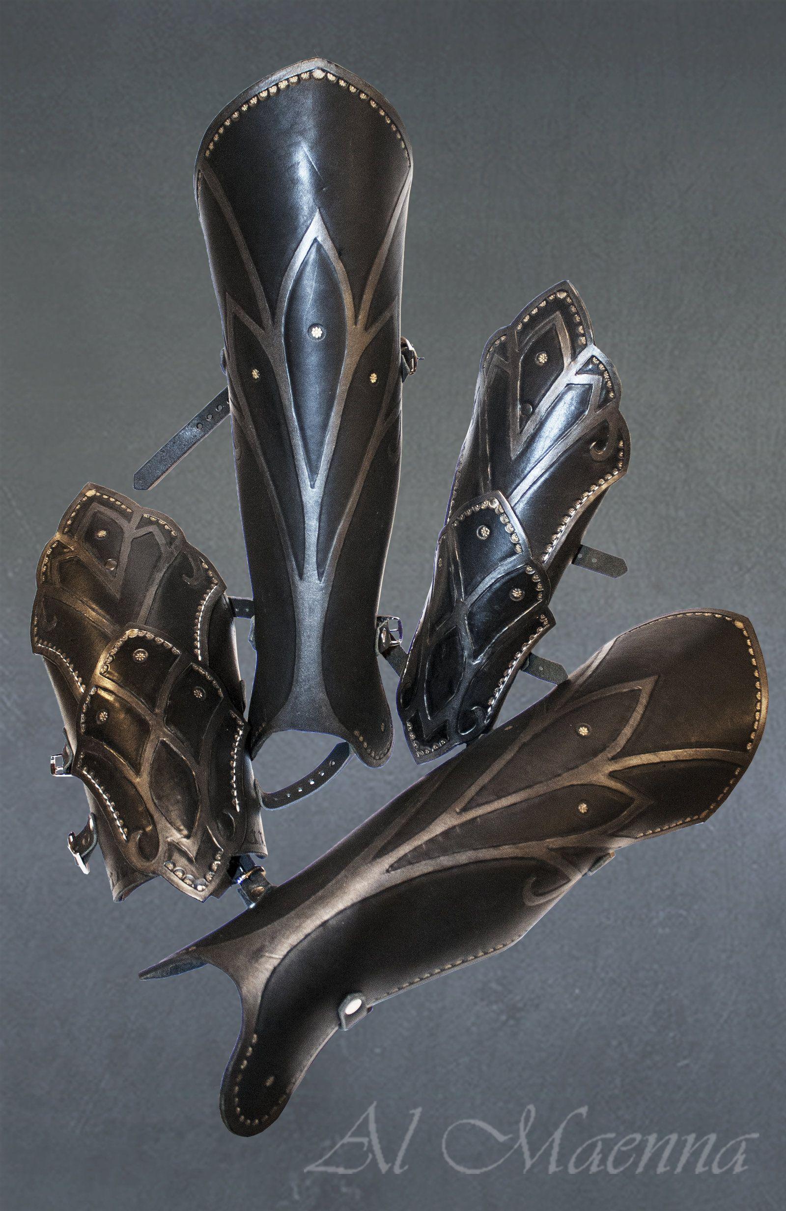Elven arm and leg armor by Shattan deviantart com on @deviantART