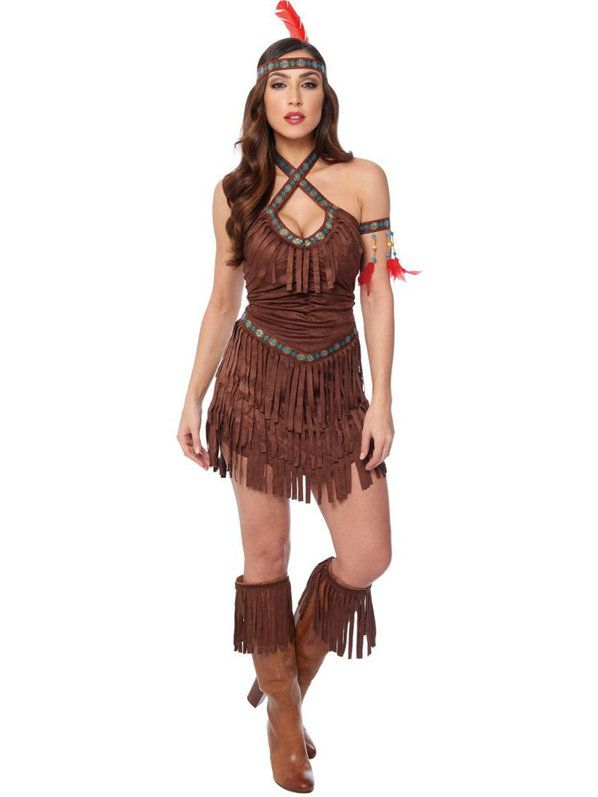 Check Out Womens Sexy Native American Maiden Costume -7522
