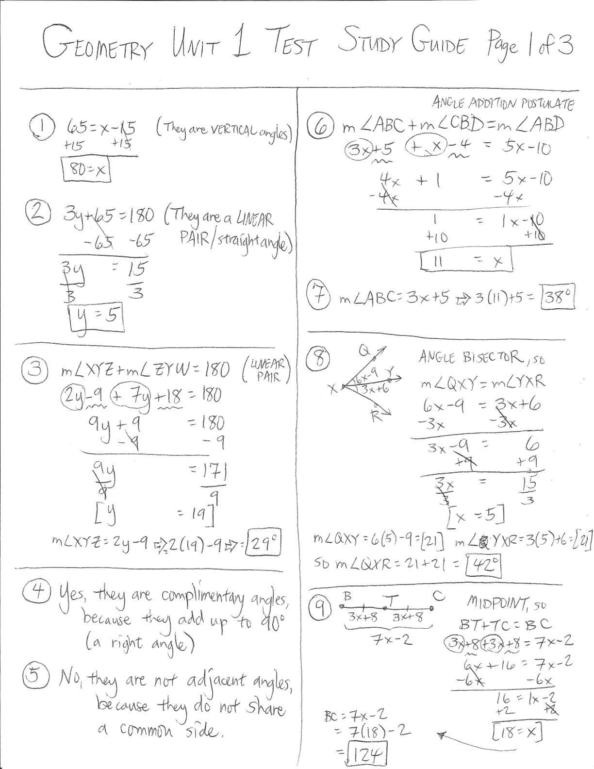 Geometric Probability Worksheet With Answers