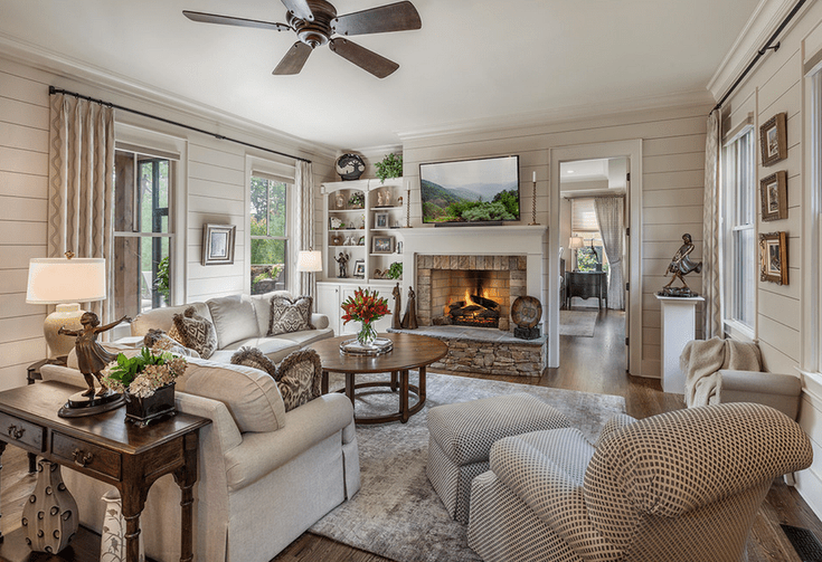 24 comfy living room design ideas to keep you warm this