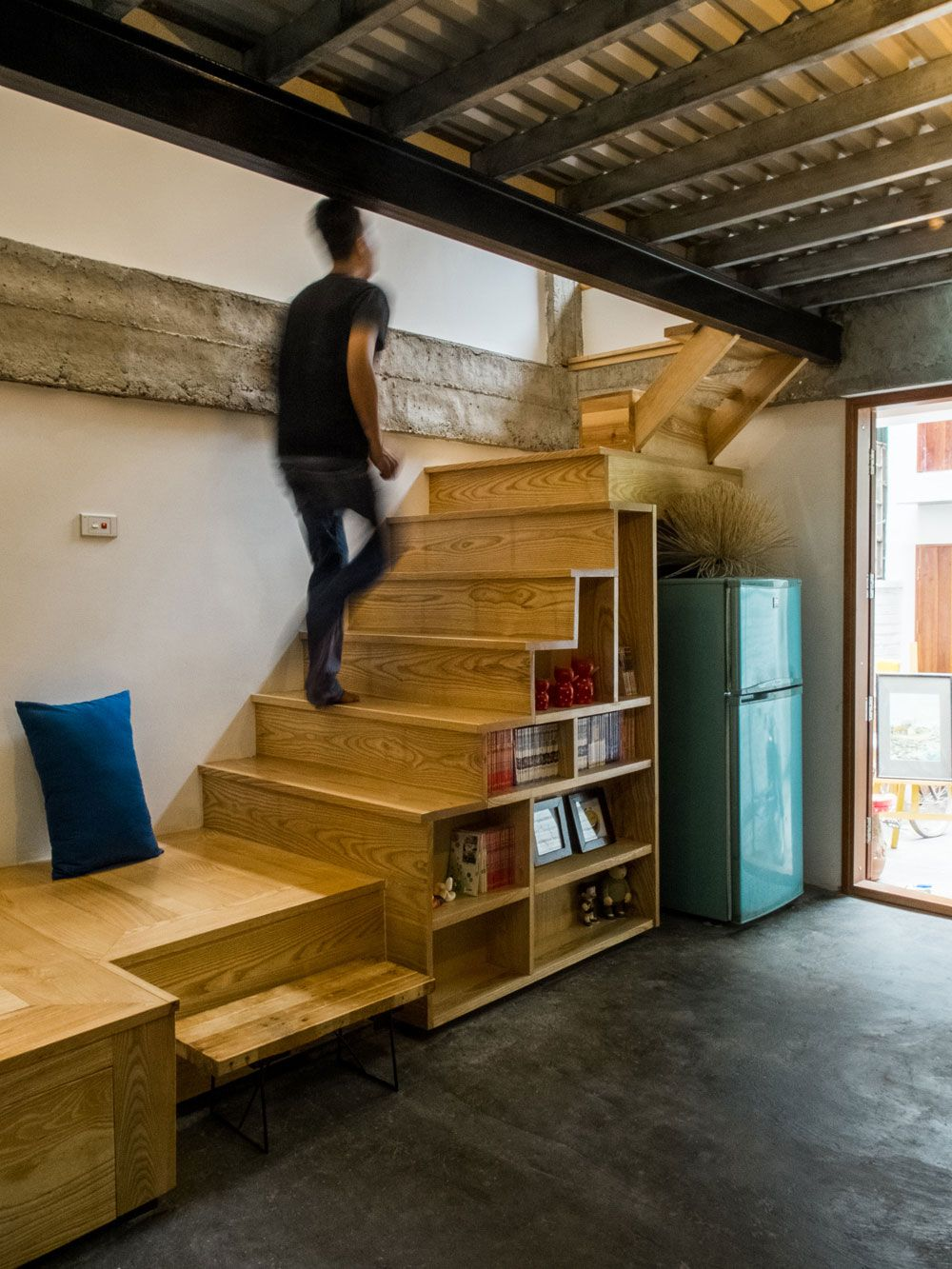 kn house by adrei studio architecture house stairs tiny on new garage organization ideas on a budget a little imagination id=21482