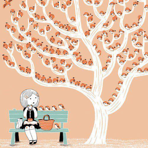 Lunch moment illustration