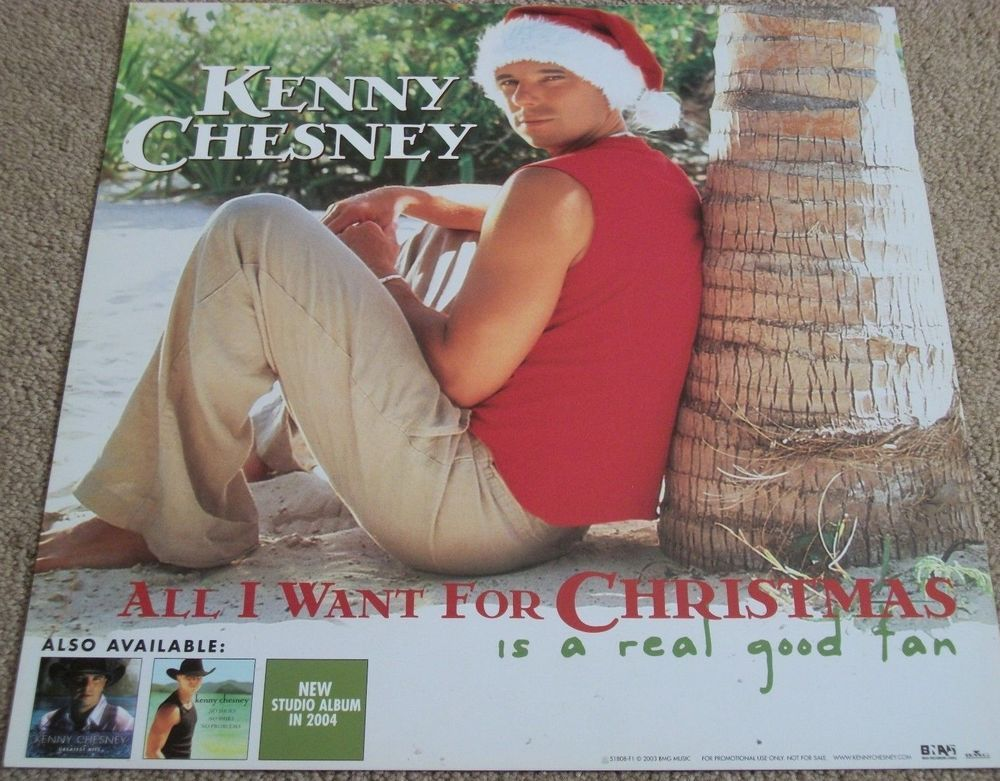 Kenny Chesney / All I Want For Christmas / Double-Sided Promo Poster ...