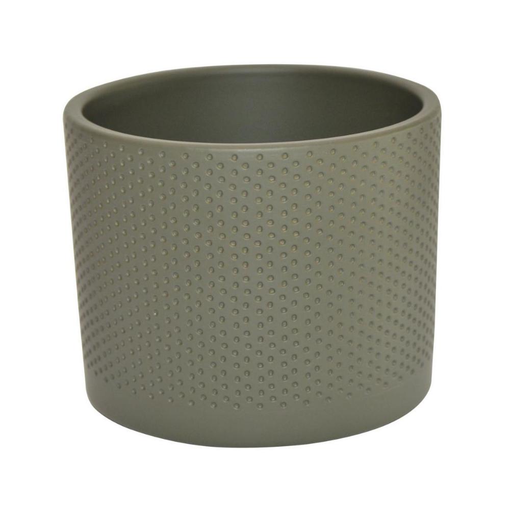 Osłonka Ceramiczna 174 Cm Szaro Zielona Walec Ceramik