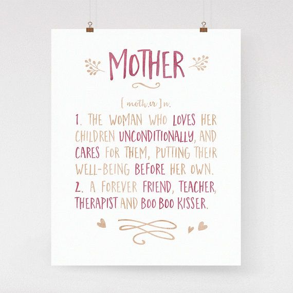 Mothers day gift mother word definition art print by lighter words mothers day gift mother word art print gift for mom calligraphy art mother definition dictionary art watercolor archival print stopboris Image collections