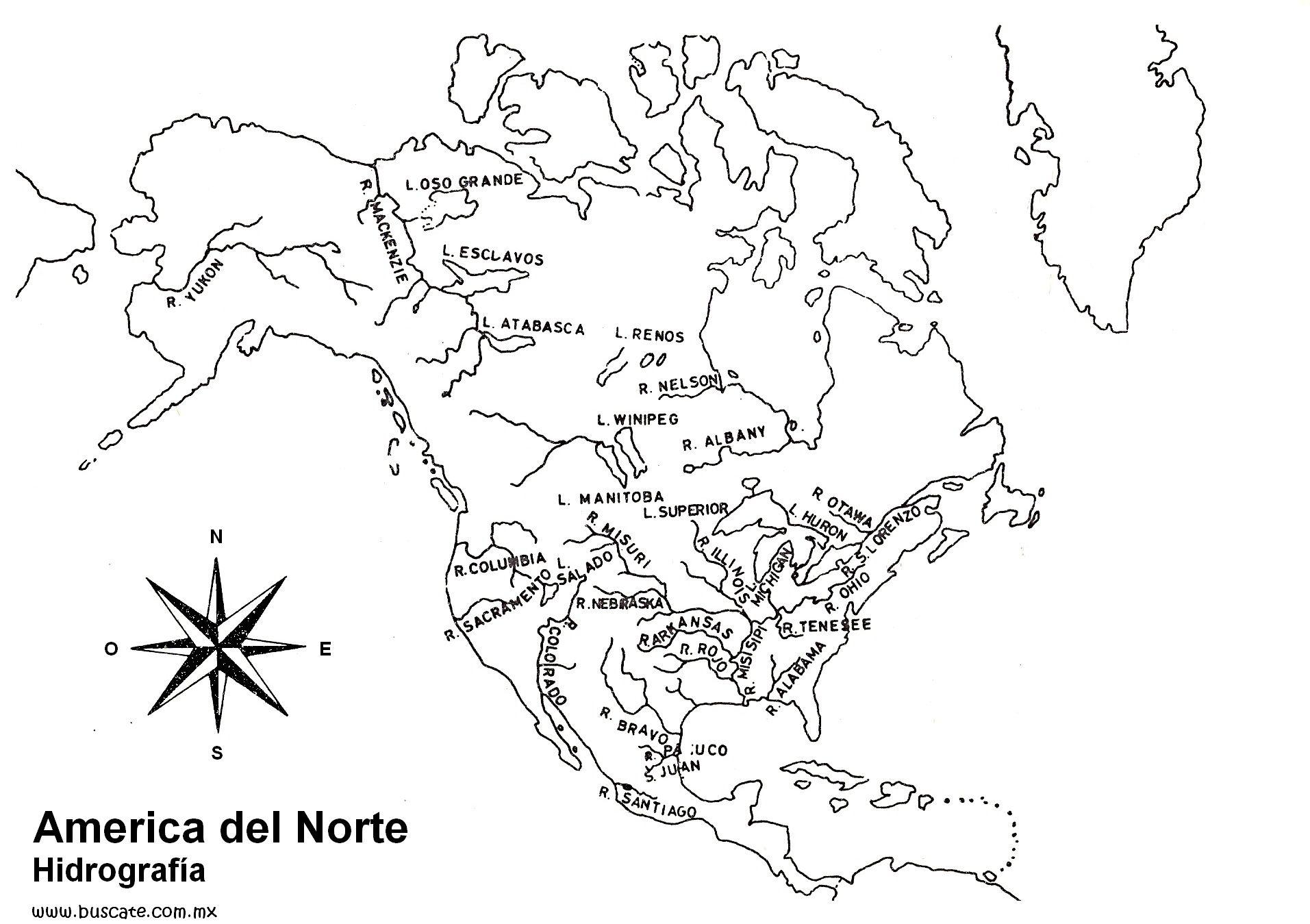 Thorough America Del Norte Para Pintar Nombres Del Mapa De America Mapa De America Completo Para Mapa De America Mapa De America Latina Hidrografia De America