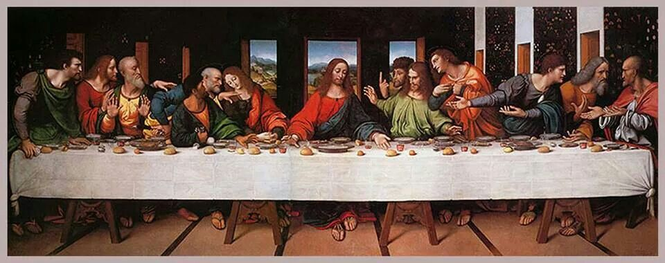 Ultima Cena Institucion De La Eucaristia La Ultima Cena Galeria Nacional De Londres Leonardo Da Vinci