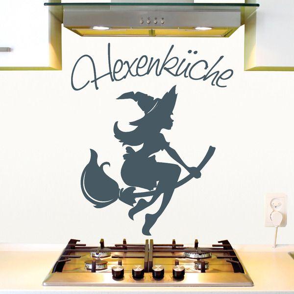 Wandtattoo Hexenküche / Aufkleber für die Küche Silhouettes