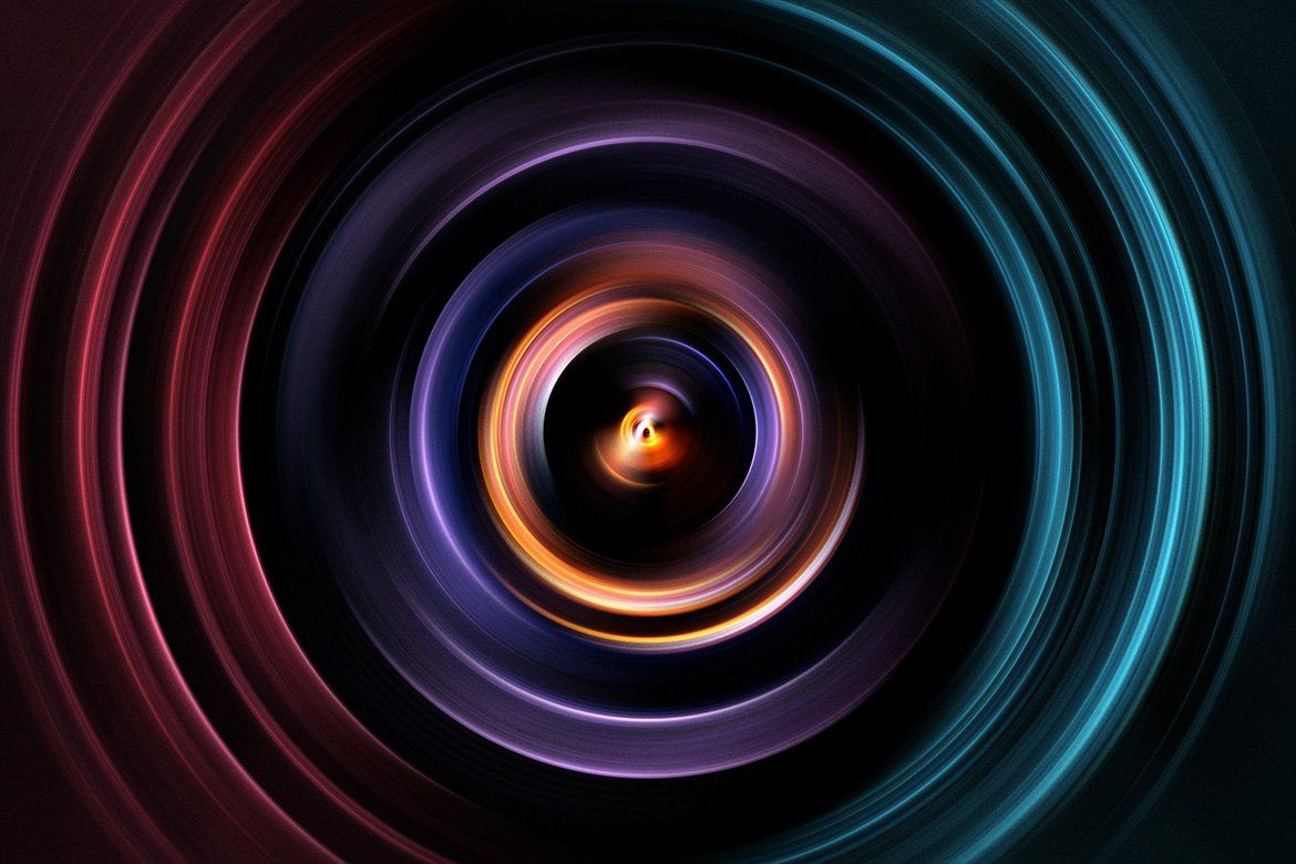 Focus Colorful Zoom Backgrounds Composition design