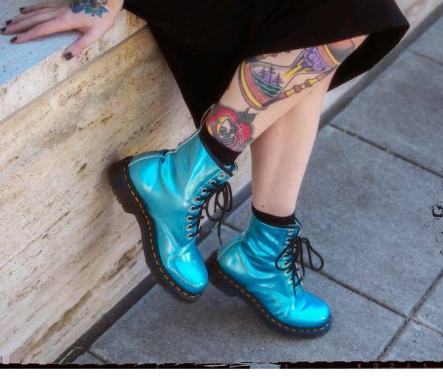 Dr. Martens Standout vegan metallics | Boots, Combat boots
