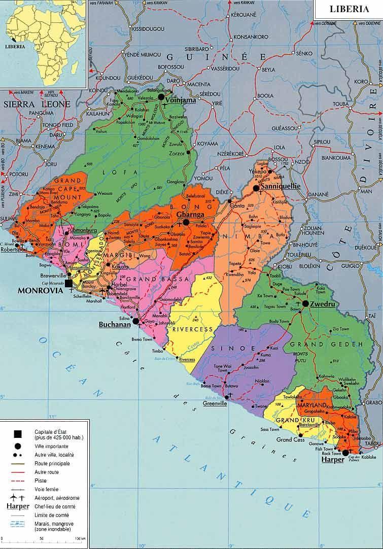Liberia Map | LIBERIA | Pinterest | Liberia, Africa and Liberia africa