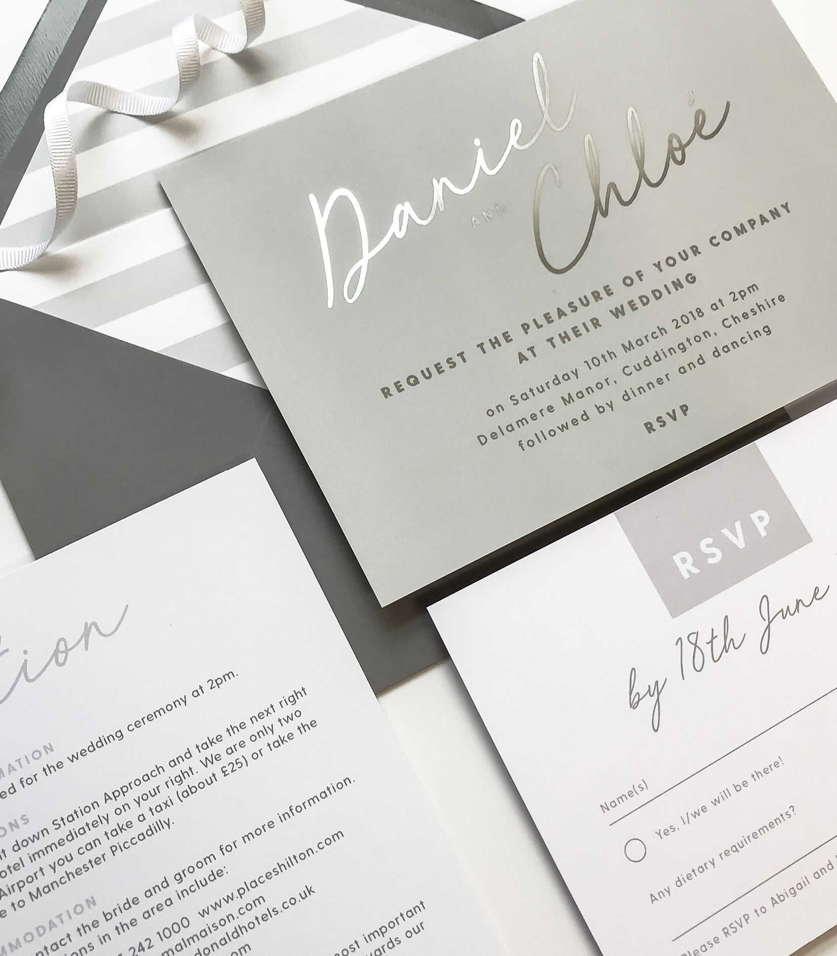 Rachel foil printed Wedding Invitations | Weddings, Belly bands and ...