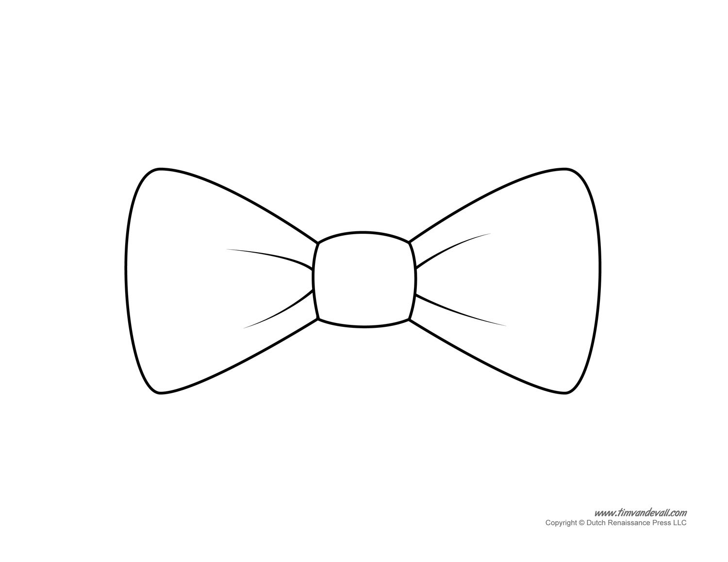 Paper Bow Tie Template Printable